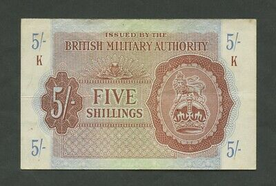 £25.95 • Buy BRITISH MILITARY AUTHORITY  5 Sh  WWII  Krause M4  Good VF  Banknotes