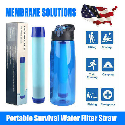 $25.99 • Buy 3-Stage Portable Water Filter Straw Purifier Camping Emergency Survival Tool