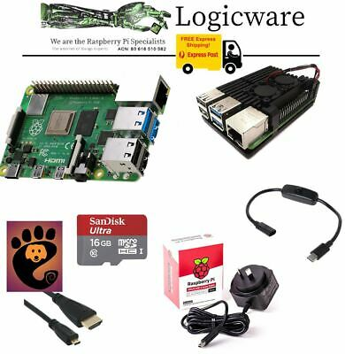 AU179.95 • Buy Raspberry Pi 4 Model B 4GB ARMOR Work From Home Pack   32GB Keyboard Mouse WFH