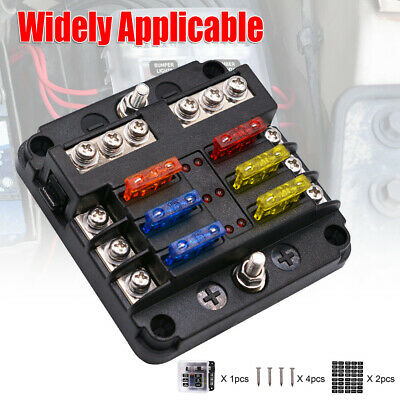 AU21.59 • Buy 6 Way Blade Fuse Box With Cover Marine Bus Bar Car Kit Fuse Box Holder 12V 32V