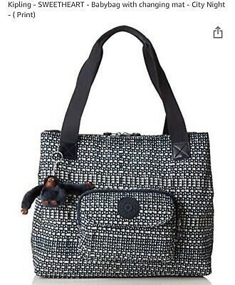KIPLING BABY SWEETHEART CITY DAY/CHANGING BAG - Excellent Condition - No P&P  • 34.99£