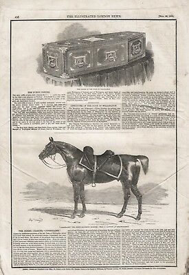 £8.99 • Buy Old 1852 Print Duke Of Wellington His Coffin And His Charger Copenhagan B111