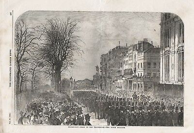 £8.99 • Buy Old 1852 Print Piccadilly The Funeral Procession Duke Of Wellington B111