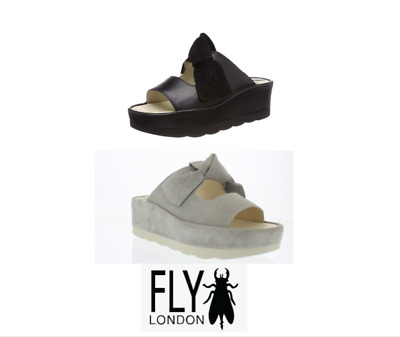 £80 • Buy  Fly London BADE954FLY Bow Flatform Wedge Leather Suede Comfort Padded Sandal