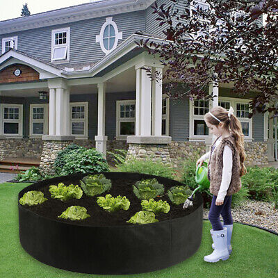 Fabric Raised Garden Bed Round Planting Container Grow Bags Breathable Felt Pot • 10.82£