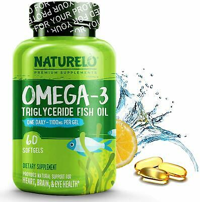 AU74.81 • Buy Premium Fish Oil Supplement - 1100mg Triglyceride Omega - 3 - One A Day - Best