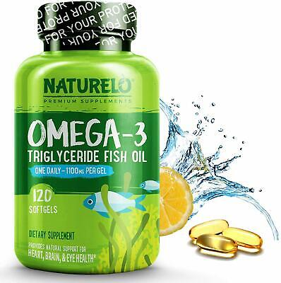 AU103.81 • Buy Premium Fish Oil Supplement - 1100mg Triglyceride Omega - 3 - One A Day - Best