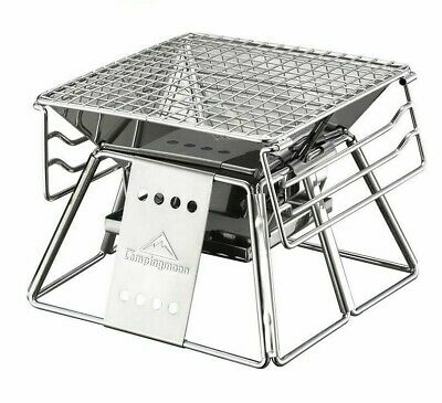 $ CDN93.66 • Buy Portable Stainless Steel BBQ Grill Non-stick Surface Folding Barbecue Outdoor