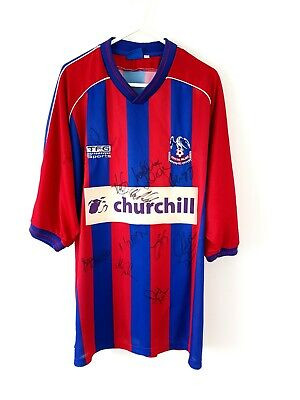 Crystal Palace Signed Home Shirt 1999. XL. Red Adults Official Football Top Only • 49.99£