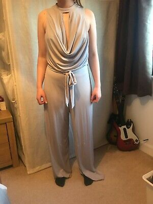 Purple/silver Formal Evening Jumpsuit New Look Size 18 • 5£