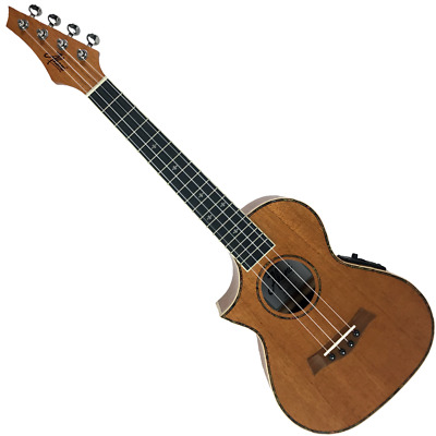 AU369 • Buy Akoni Extreme Left Hand Tenor Ac/el Ukulele W/ Tuner & Bag Solid Mahogany Top