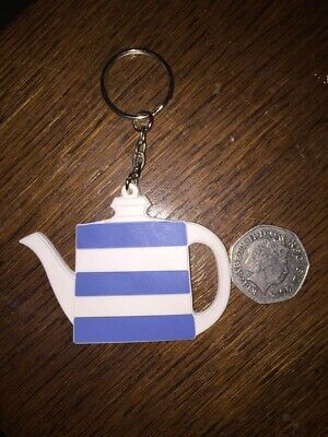 T G Green Cornishware Teapot Keyring (silicon Rubber) • 5£