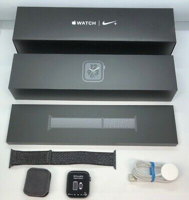 $ CDN415.24 • Buy Apple Watch Series 4 Nike+ 44mm Sp Gray W/ Black Loop GPS + CEL MTXD2LLA A1976