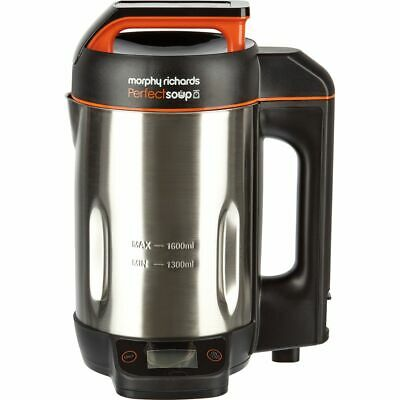 Morphy Richards 501025 Perfect Soup 1.6 Litres Soup Maker Stainless Steel New • 61£