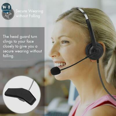 Noise Cancelling Headphone Microphone Headset  Call Centre Office Telephone • 11.27£