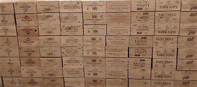 £12.95 • Buy Wooden Wine Box Crate, 6 Bottle Or Wine Box End. French, Storage Planter Decor !