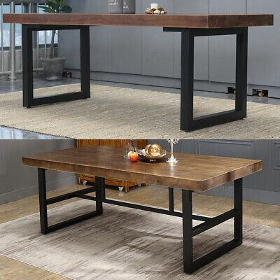 2X Industrial Square Box Shape Metal Steel Table Legs Dining/Bench/Office/Desk • 89.95£