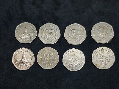 Miscellaneous Coins 20ps 2ps 1ps Few Foreign Coins Very Rare 20ps • 3£
