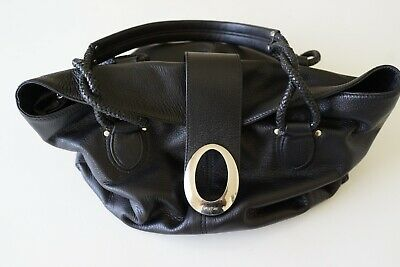 AU54 • Buy Oroton Large Black Leather Shoulder Handbag/purse…vgc...