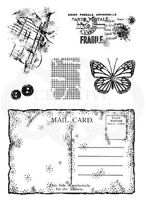 OLD POSTCARD - Clear Magic Stamp - Woodware • 5.49£