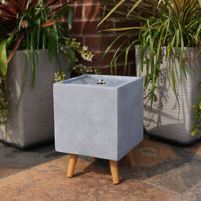 Plug In Outdoor Square Stone Effect Water Fountain Feature With LED Light • 89.99£