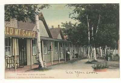 $ CDN6.20 • Buy 1906 UDB Postcard: Front View Of Bald Mt. Camps - Oquossoc, Maine