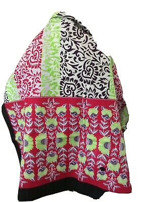 """$19.99 • Buy African Cotton Beach Wrap Kanga Leso Size 42x62"""" Red White Purple Lime Green"""