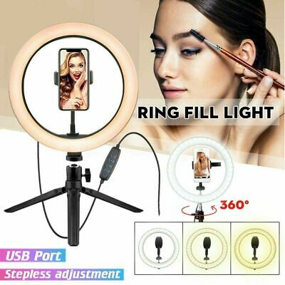 AU24.99 • Buy 10  Phone Selfie Ring Light +Bluetooth Shoot For Makeup Video Phone Youtube JX31