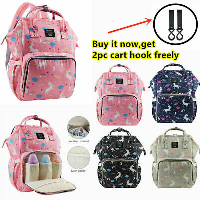LEQUEEN Baby Changing Bag Nappy Diaper Mummy Large Capacity Unicorn Backpack • 12.99£