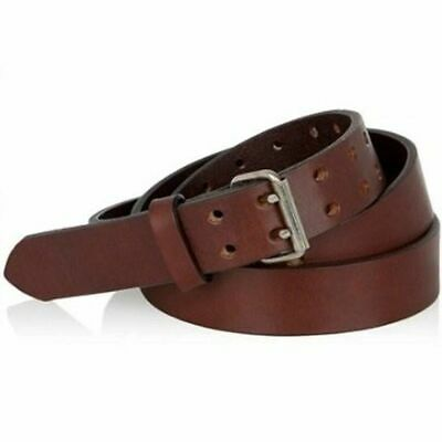 $5.40 • Buy NEW! Genuine Barbados LEATHER 32  33  34  35  36  Mens Womens Double Prong Belt