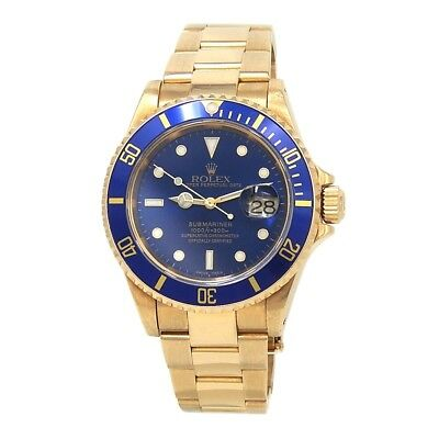 $ CDN31143.93 • Buy Rolex Submariner (A Serial) 18k Yellow Gold Automatic Men's Watch 16618