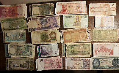 Mixed Used Foreign Bank Notes • 1£