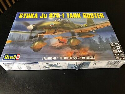 $20 • Buy Sealed New Revell 'Stuka Ju 87G-1 Tank Buster' Kit #5270, 1:48 Scale