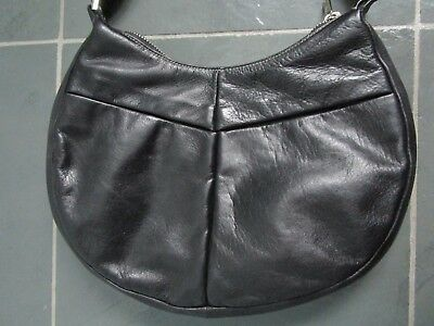 $ CDN55 • Buy DANIER Made In KOREA Black Real Genuine Leather Shoulder Bag Purse