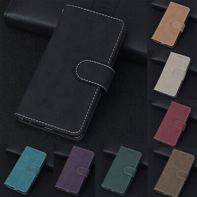 AU7.99 • Buy Matte 3 Card S Lot Holder Wallet PU Leather Flip Case Cover For Samsung Galaxy