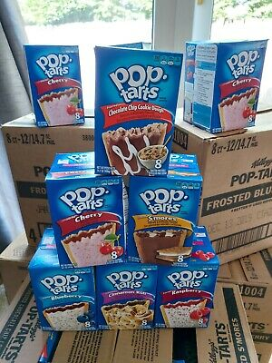 Kellogg's Pop Tarts Mixed Flavours X 12 Boxes Of 8 Biscuits   • 15£