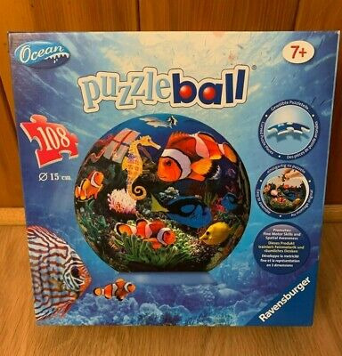 "$11.95 • Buy RAVENSBURGER 108 PIECES OCEAN THEMED 6"" PUZZLE BALL 100% Complete"