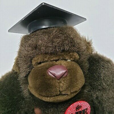 $ CDN31.38 • Buy Dakin Vintage 1988 Graduation Cap Gorilla Ape Monkey Stuffed Animal Plush 9