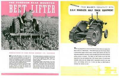 AU36.76 • Buy Implements For The Fordson Major Tractor Brochure To Inc County Tracks, Roadless