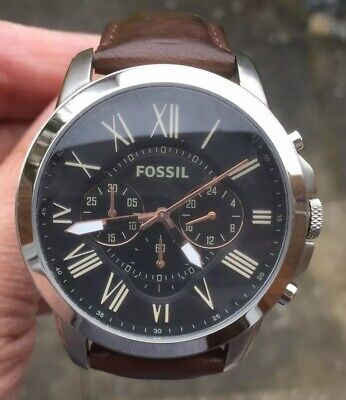 View Details Mens Fossil Fa-4813 Leather Strap Watch New Battery In It Very Nice Order • 39.99£