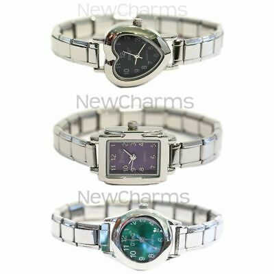 £6.29 • Buy Italian Charm Watch - 9mm With Starter Bracelet Included. You Pick Style & Color