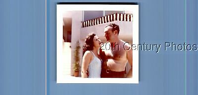 $ CDN9.86 • Buy Found Color Photo K+0395 Shirtless Hairy Man Posed With Pretty Woman In Swimsuit