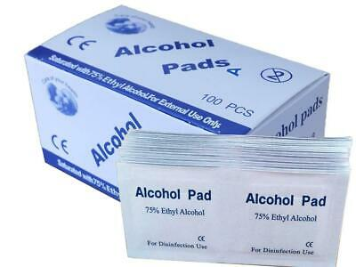 ALCOHOL 75% Swabs Wipes Pads Tattoo Nail CPU Antiseptic Cleanser Cleaning • 4.69£
