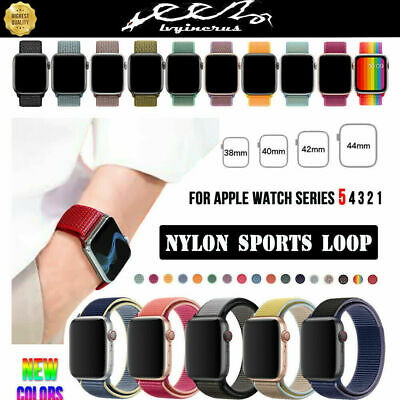 AU6.99 • Buy Nylon Sport Loop IWatch Band Strap For Apple Watch Series 5 4 3 2 38/42/40/44mm