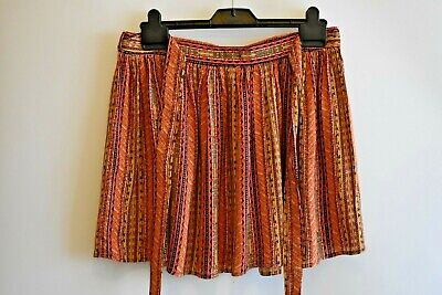 Ethnic Mulit Print Festival * Pixie * Party * Summer Hippy Style Skirt Size 30 W • 4.99£