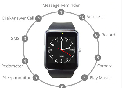 $ CDN35.99 • Buy Smart Watch For IWatch IPhone Android