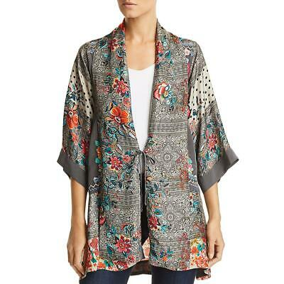 $178.80 • Buy Johnny Was Womens Ellamo Multi Silk Embroidered Shirt Kimono Top M BHFO 0668