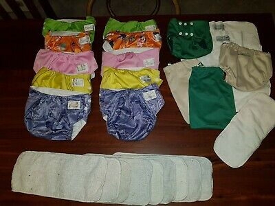 AU30 • Buy My Little Ripple, MCN Reusable Nappies X 10, Pea Pod Bamboo Nappy X 2