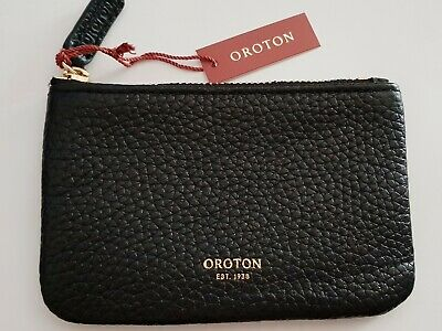 AU29.99 • Buy Oroton Avalon Mini Pouch Black Leather New With Tags Black
