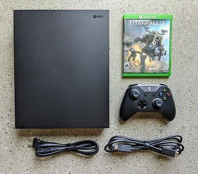 $217.50 • Buy Microsoft Xbox One X 1TB Console (1787) -- OEM Controller & Cables, Titanfall 2